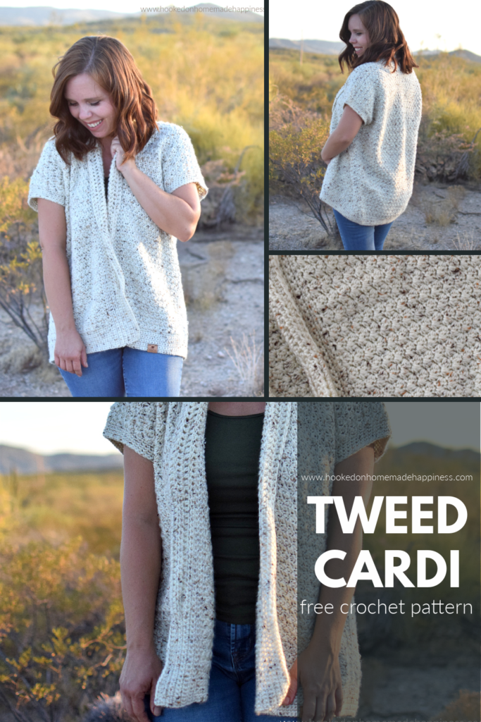 Tweed Cardi Crochet Pattern - The Tweed Cardi Crochet Pattern is made with the pretty Suzette stitch. It creates tight stitches with such a gorgeous texture!