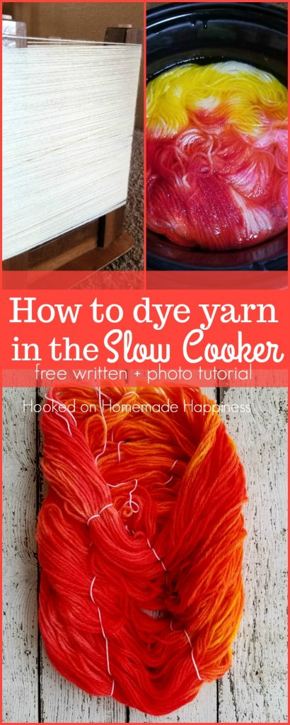 dyeing yarn in the slow cooker
