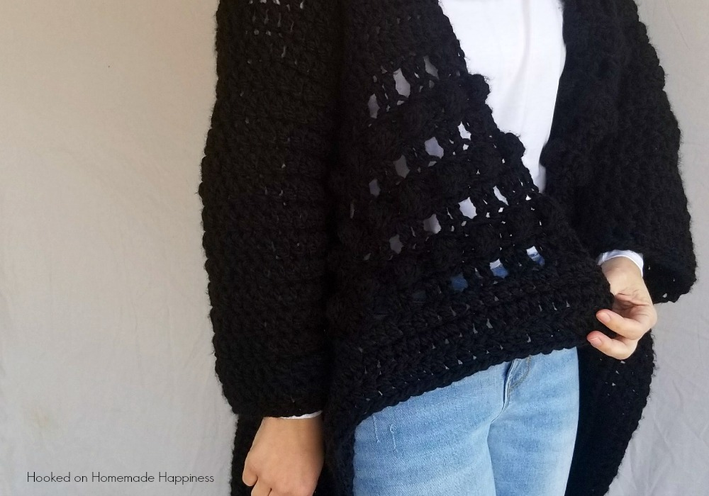 Everyday Black Crochet Cardigan Pattern Hooked On Homemade Happiness