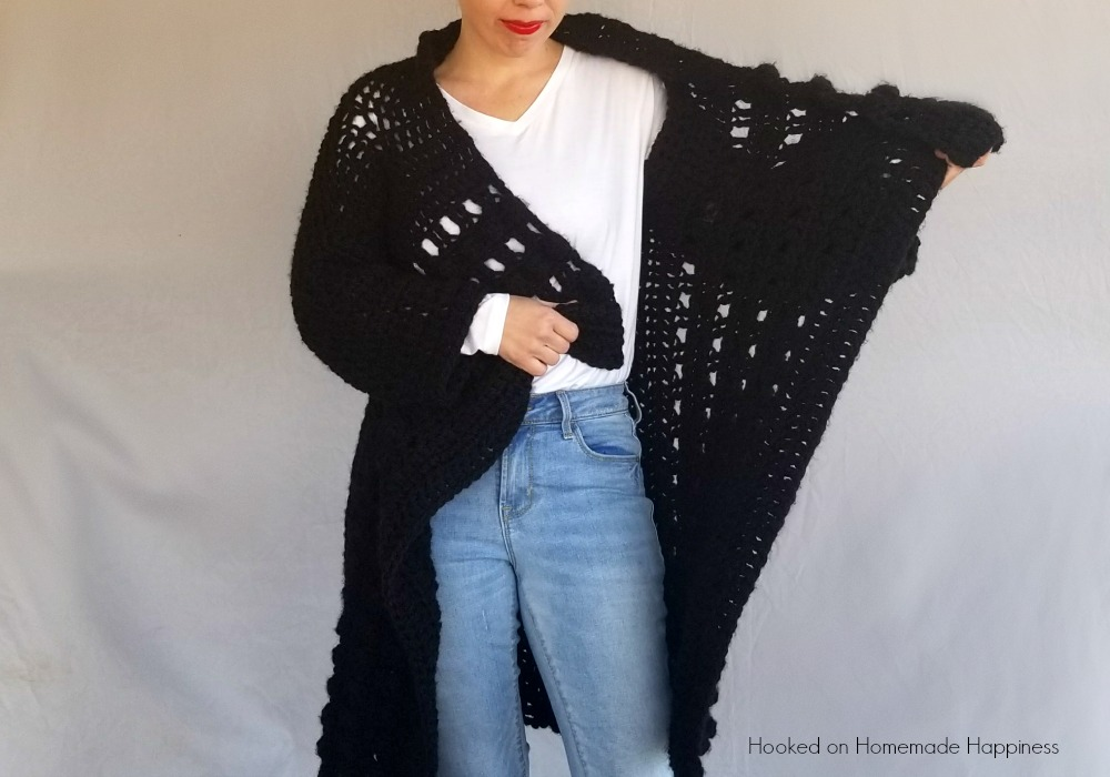 Everyday Black Cardigan Crochet Pattern