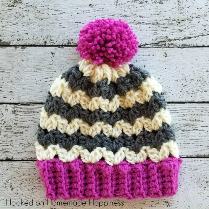 Color Pop Beanie Crochet Pattern