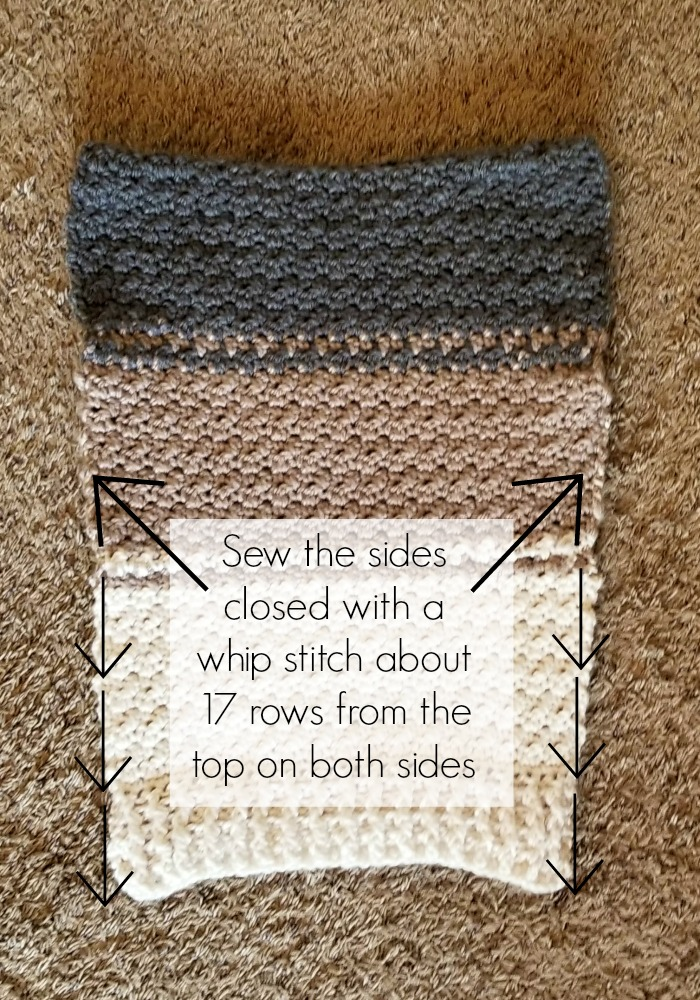 Cowl Sweater Vest Crochet Pattern