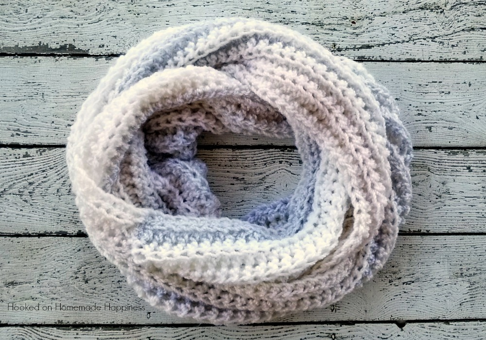 Arctic Infinity Scarf Crochet Pattern Hooked On Homemade Happiness