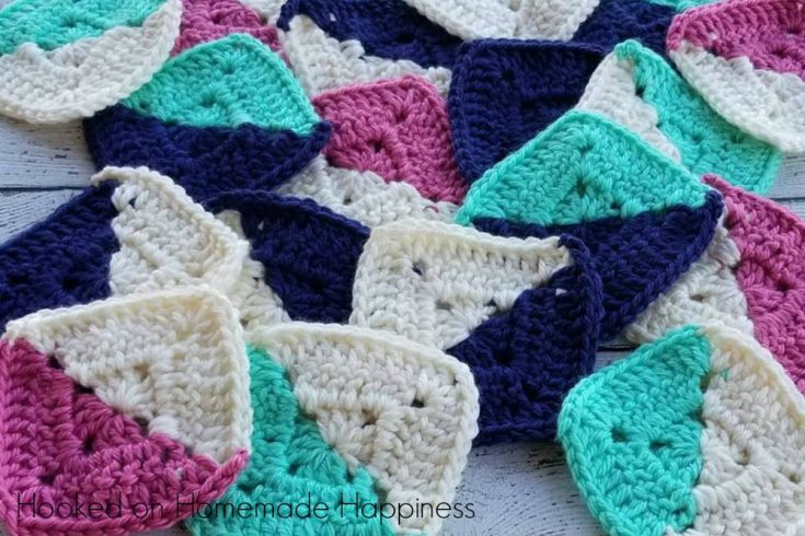 Half and Half Granny Square Crochet Pattern