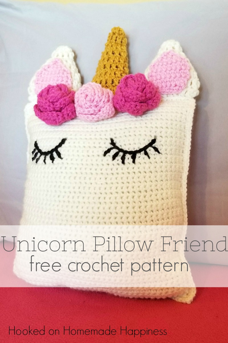 Unicorn Pillow Friend Crochet Pattern Hooked On Homemade Happiness