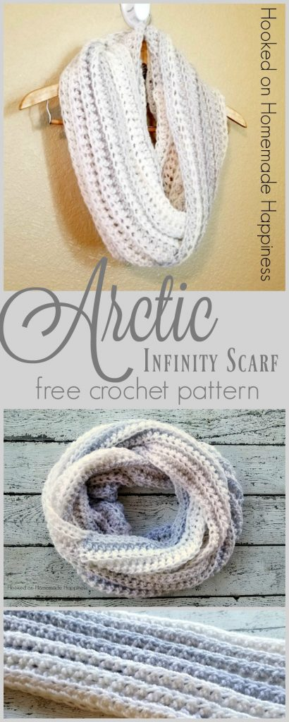 Arctic Infinity Scarf Crochet Pattern | Hooked on Homemade Happiness