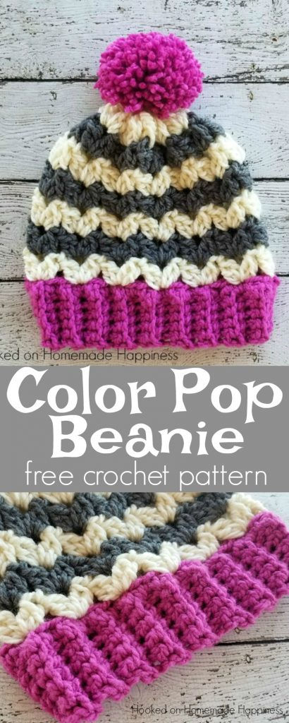 Color Pop Beanie Crochet Pattern