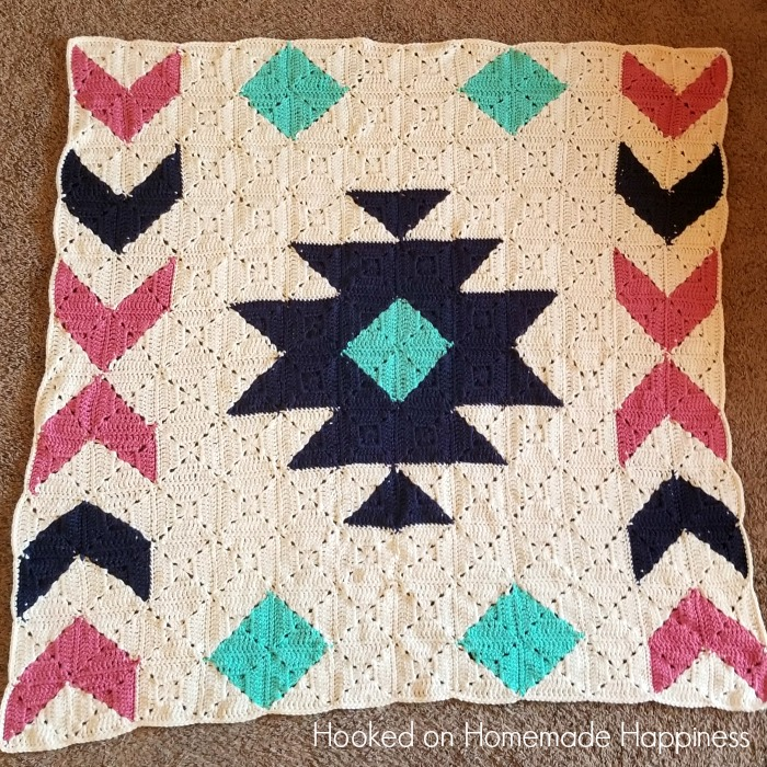 Southwest Granny Square Blanket Pattern Crochet Along