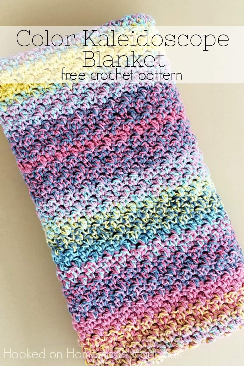 Color Kaleidoscope Crochet Blanket Pattern | Hooked on Homemade ...