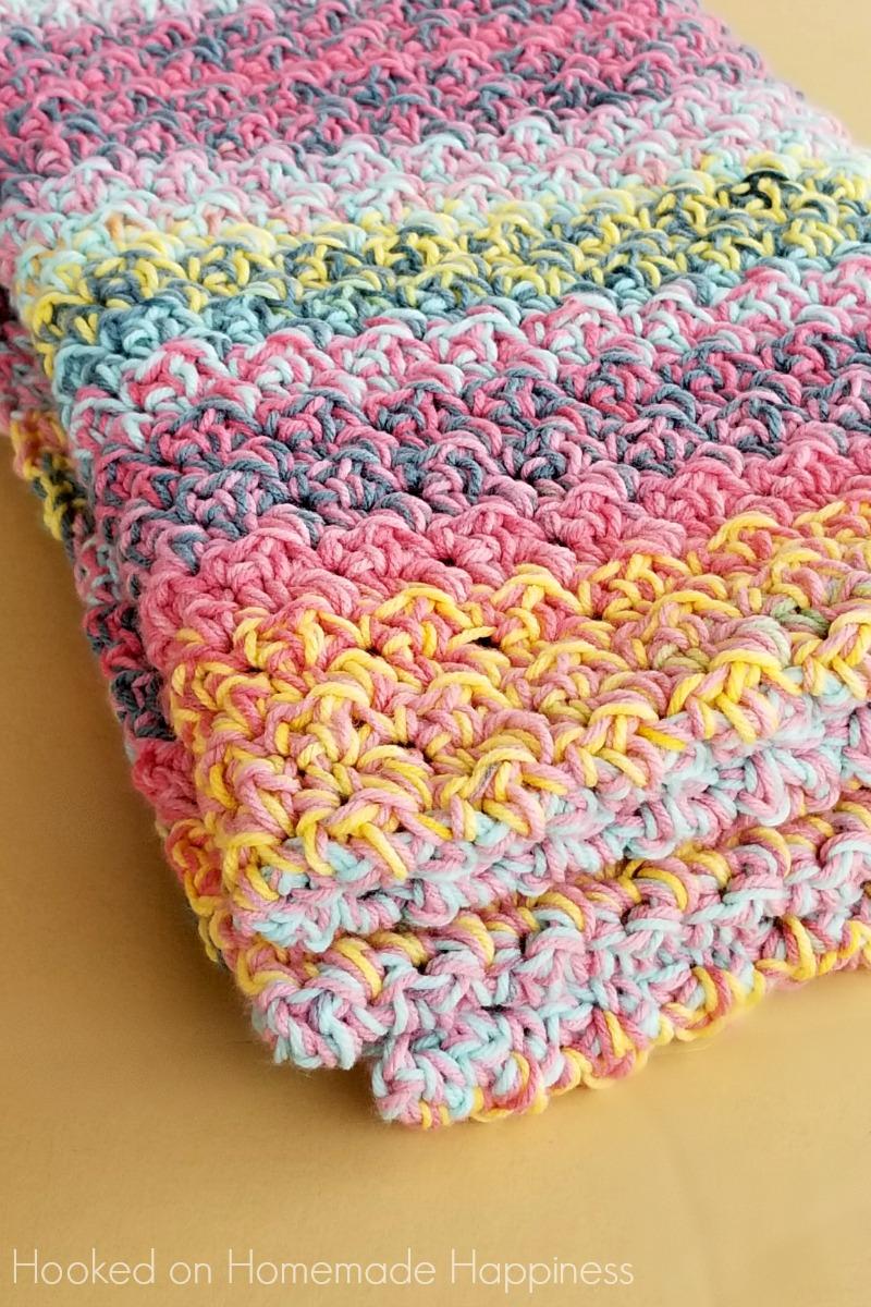 Color Kaleidoscope Crochet Blanket Pattern | Hooked on Homemade ...