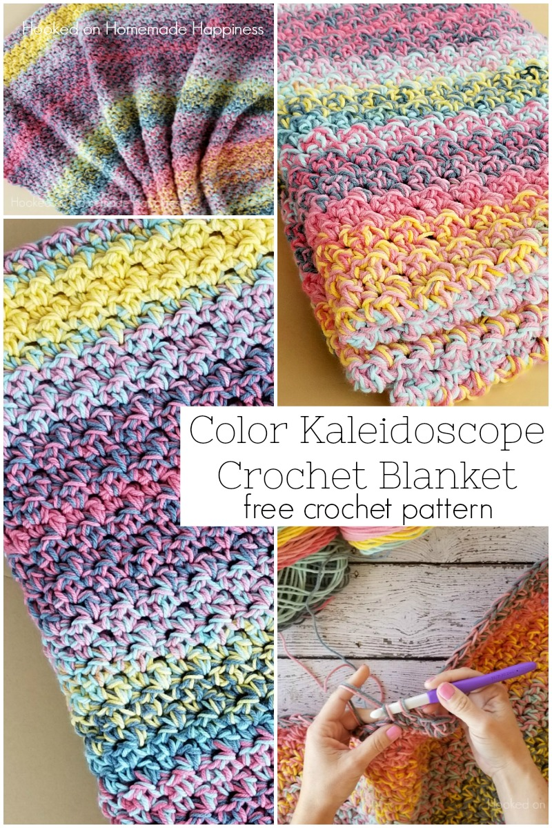 Color kaleidoscope crochet blanket pattern hooked on homemade color kaleidoscope crochet blanket pattern so bright and beautiful you cant go dt1010fo