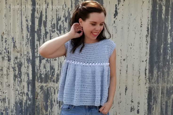 Peasant Top Crochet Pattern - Add this girly and flirty Peasant Top Crochet Pattern to your Spring closet! The ruffles add a feminine touch and they are so much easier to create than you might think.