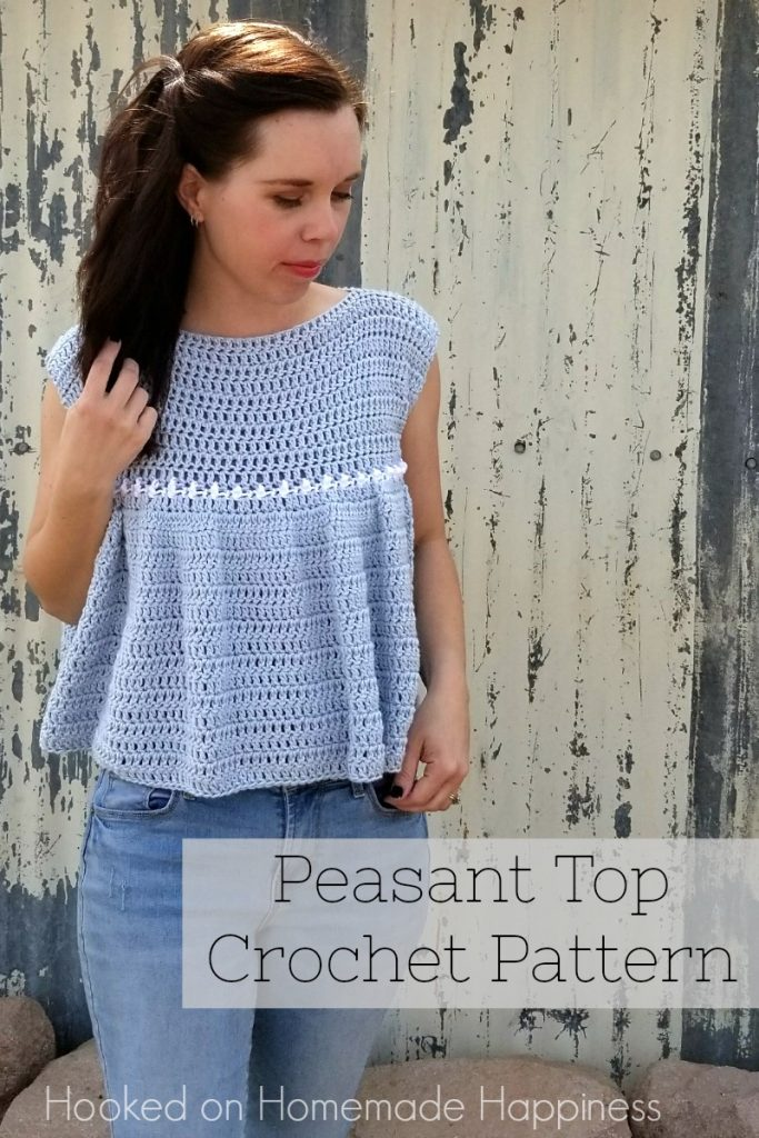 Peasant Top Crochet Pattern Hooked On Homemade Happiness