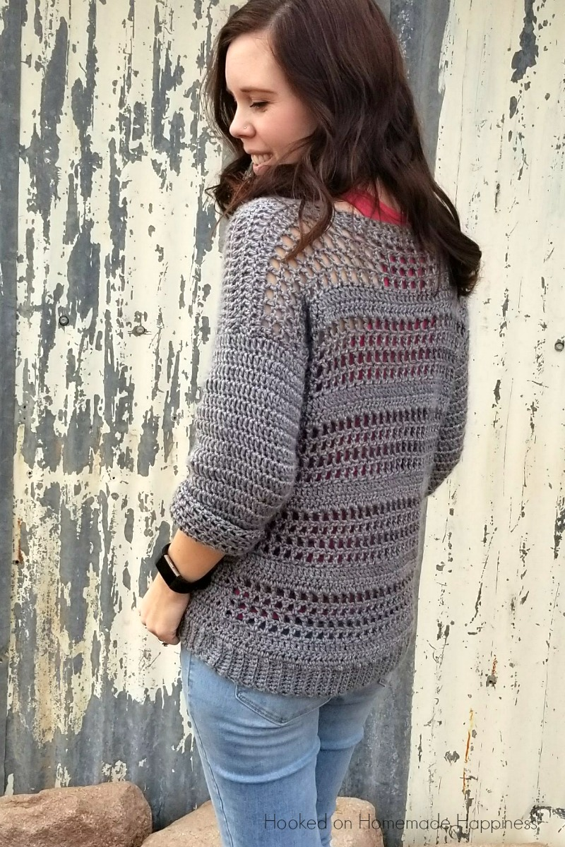 Simple Crochet Sweater Pattern 2 | Hooked on Homemade Happiness