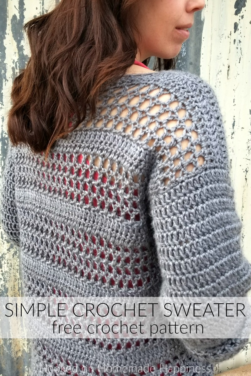 Simple Crochet Sweater Pattern 4 Hooked On Homemade