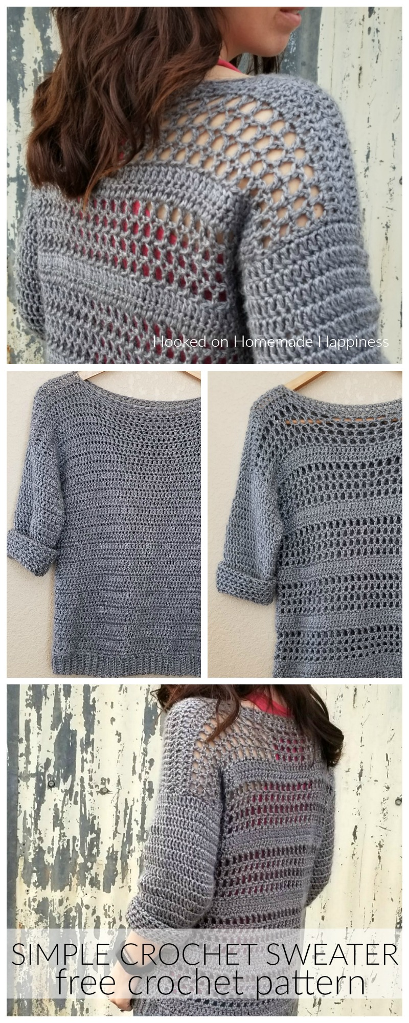 a8676429151ae Simple Crochet Sweater Pattern - Making your own sweaters is easier than  you might think!
