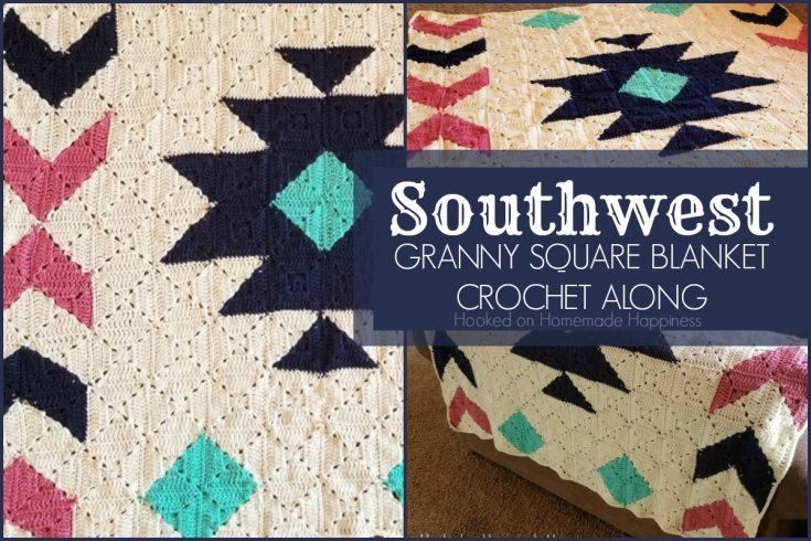 Southwest Granny Square Blanket Crochet Pattern