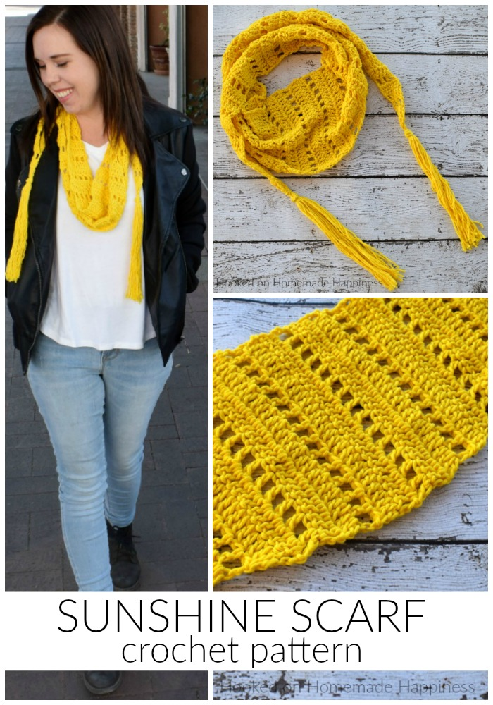 Sunshine Crochet Scarf Pattern Hooked On Homemade Happiness