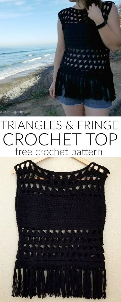 Triangles Fringe Crochet Top Pattern Hooked On Homemade Happiness