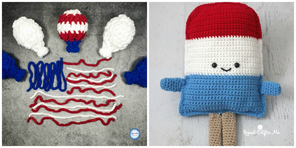 10 Patriotic Crochet Patterns - The weather is warming up and you know what that means... Memorial Day and Independence Day! I love crocheting Red, White, and Blue items for the summer. I've collected 10 Patriotic Crochet Patterns that will be perfect for summer!