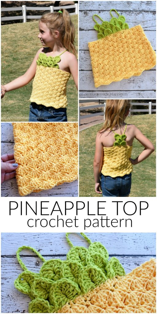 Pineapple Crochet Top Pattern Hooked On Homemade Happiness