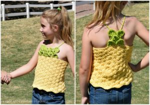 Pineapple Crochet Top Pattern - The Pineapple Crochet Top Pattern is such fun! I used a pretty shell stitch for the body of the top and the crocodile stitch for the pineapple top on the front and back.
