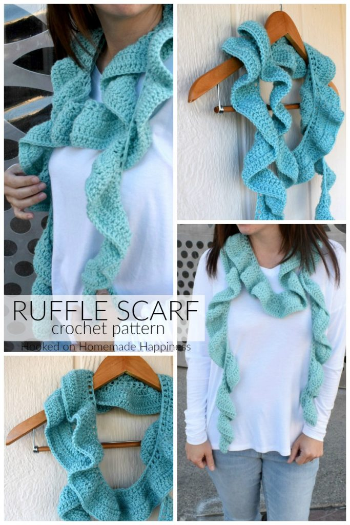 Ruffle Scarf Crochet Pattern Hooked On Homemade Happiness