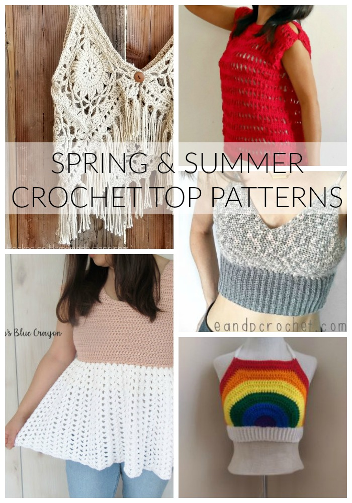 Making fun Spring and Summer tops is one of my favorite things to crochet! Garment design is my jam and I've had so much fun making some fun things for the warmer months. That's why I gathered The BEST Spring and Summer Crochet Top Patterns for your making pleasure.