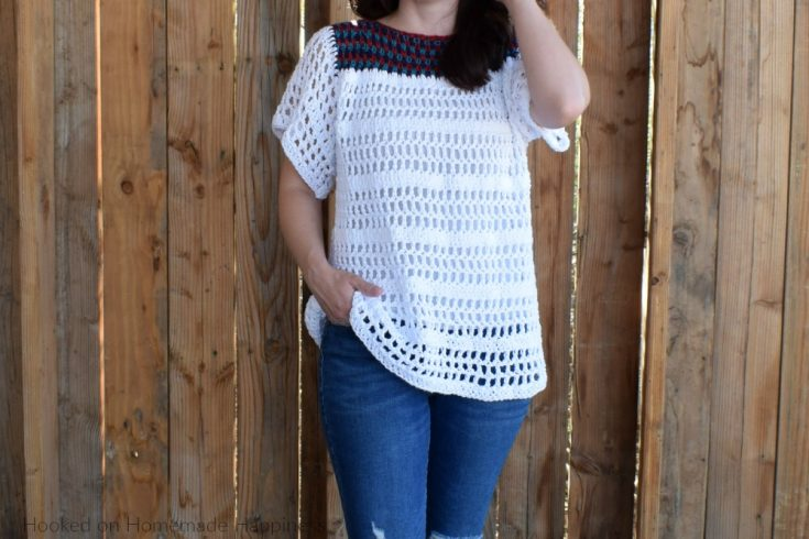 La Bonita Blouse Crochet Pattern - The La Bonita Blouse Crochet Pattern is the perfect comfy, casual top! It's light, airy, and flattering.