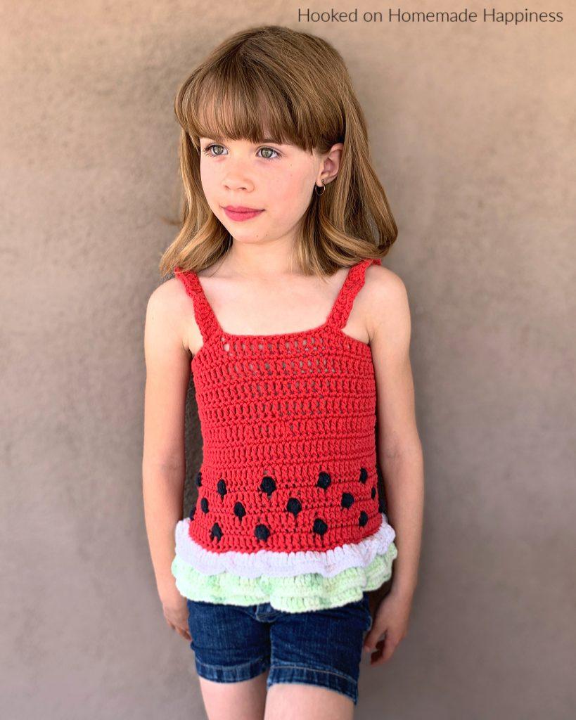 Watermelon Crochet Top - Celebrate summer in style with this cute Watermelon Crochet Tank Top!