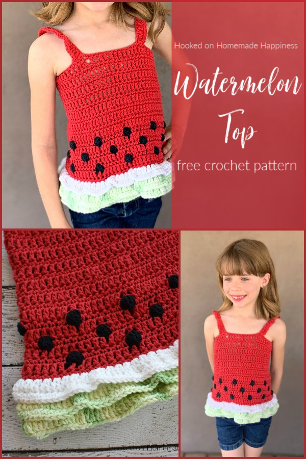Watermelon Crochet Top - Celebrate summer in style with this cute Watermelon Crochet Tank Top!