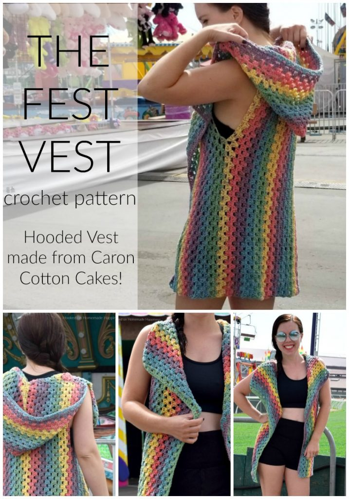 The Fest Vest Crochet Pattern - Oh. My. GOODNESS. I am so excited to share this fun, summer pattern with you! The Fest Vest Crochet Pattern is my new favorite thing to wear!