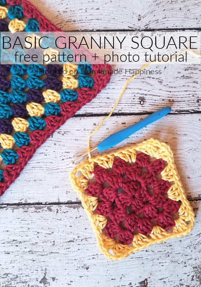 Basic Granny Square Crochet Pattern - I wanted to share with you all a classic... the Granny Square Crochet Pattern! So versatile, so many different version, so many ways to use them. This pattern is the basic granny square. You can use it to make blankets, tops, bags, coasters... endless possibilities!