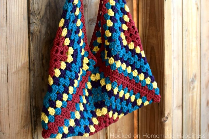 Hippie Sling Bag - The Hippie Sling Crochet Bag is my new favorite thing! It's such a fun shape, the colors are bright, and it's easy!