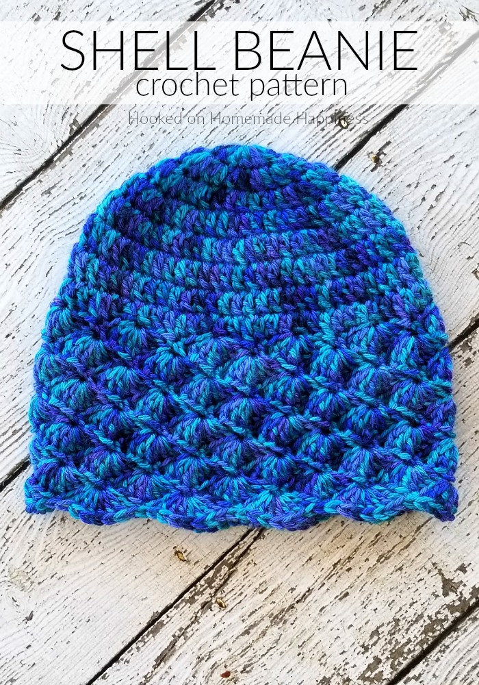 The Shell Beanie Crochet Pattern is the second pattern for the Crochet Along for a Cause! It's made to fit a child, but could easily be adjusted for an adult.