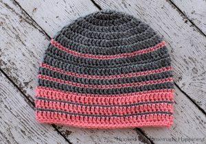 Simple Striped Beanie Crochet Pattern