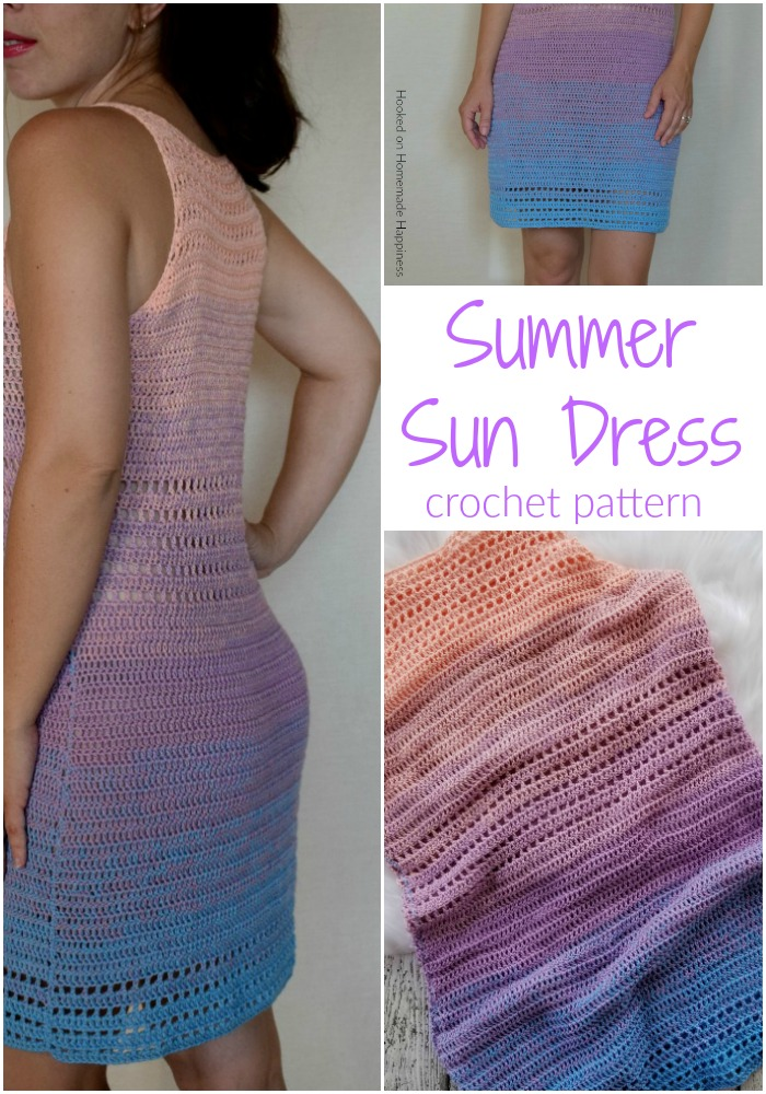 Crochet Sun Dress - Making this Crochet Sun Dress Pattern is much easier than you might think. It's 2 stitches & 2 sides sewn together. Grab you light weight 2 yarn and let's get started!