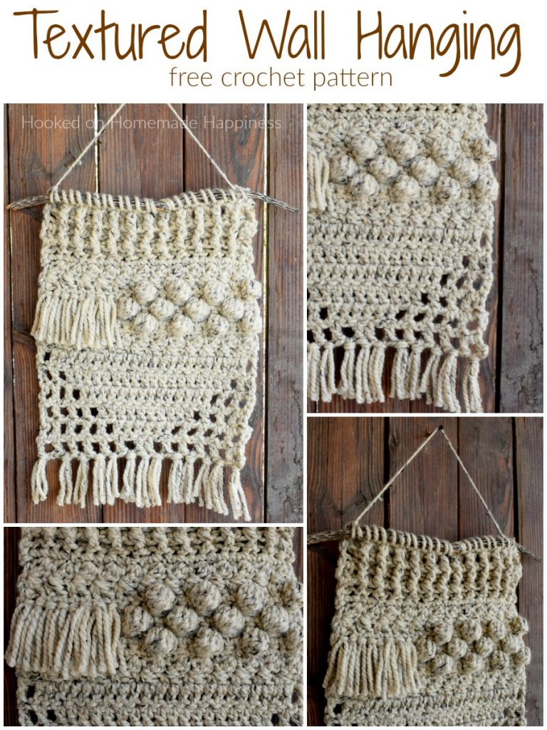 Textured Wall Hanging Crochet Pattern Hooked On Homemade