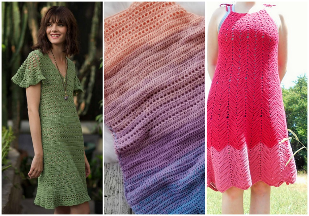 Crochet Dress Patterns - This roundup of Crochet Dress Patterns is such a fun way to crochet during the summer months! Dresses are a fun and flirty garment for the summer. #crochet #crochetpattern #crochetdress