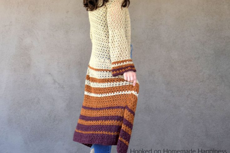 Boho Duster Cardigan Crochet Pattern - The Boho Duster Cardigan Crochet Pattern is just what you need for fall! It's long, comfy, and has a fun flare at the hips and in the sleeves. But I especially love the length of this cardigan.
