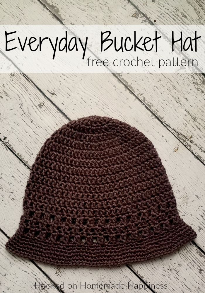Everyday Crochet Bucket Hat Pattern Crochet Along For A Cause