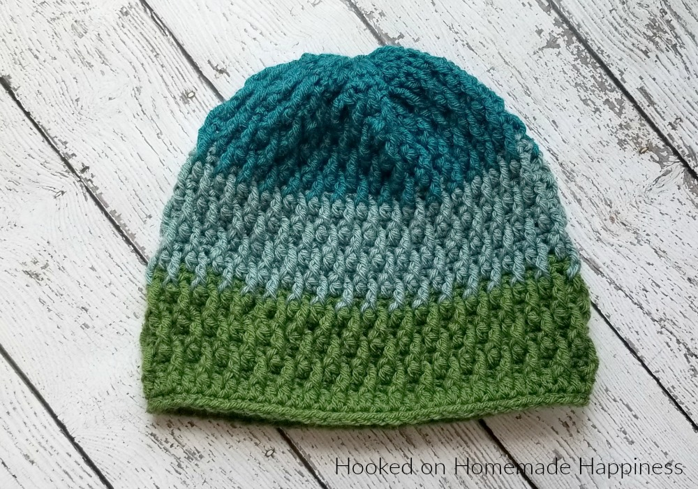 Pinetop Beanie Crochet Pattern - The Pinetop Beanie Crochet Pattern uses one of my favorite stitches... the Overlapping Post Stitch. It's creates an amazing texture for this beanie. #crochet #crochetpattern #freecrochetpattern