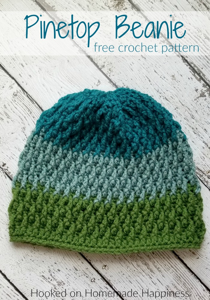 Pinetop Beanie Crochet Pattern Crochet Along For A Cause Hooked