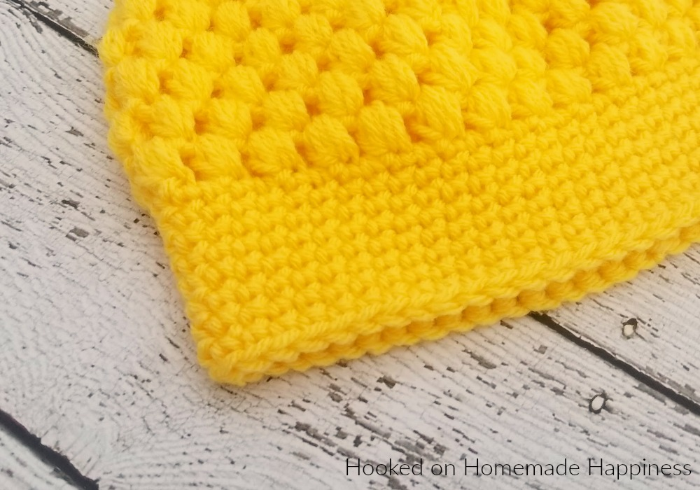 Puff Stitch Beanie crochet Pattern - The Puff Stitch Beanie Crochet Pattern is a bright, fun, and textured beanie for kids. I really love the look of the puff stitch. It's such a cute and fluffy design. Perfect for kids!