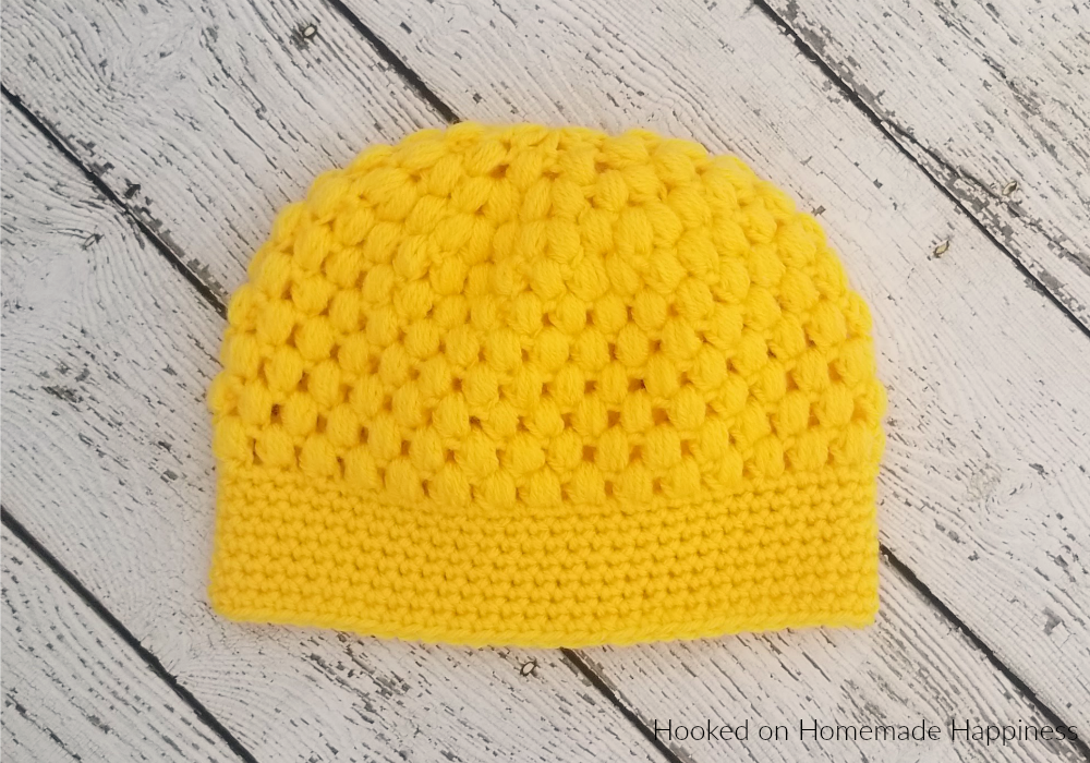 Puff Stitch Beanie Crochet Pattern (Crochet Along for a Cause ... 390061f69a9