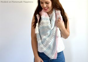 Daydreamer Wrap Crochet Pattern - The Daydreamer Crochet Wrap Pattern is make with some of the softest acrylic yarn ever and lemme tell you... this wrap really does feel like a dream!