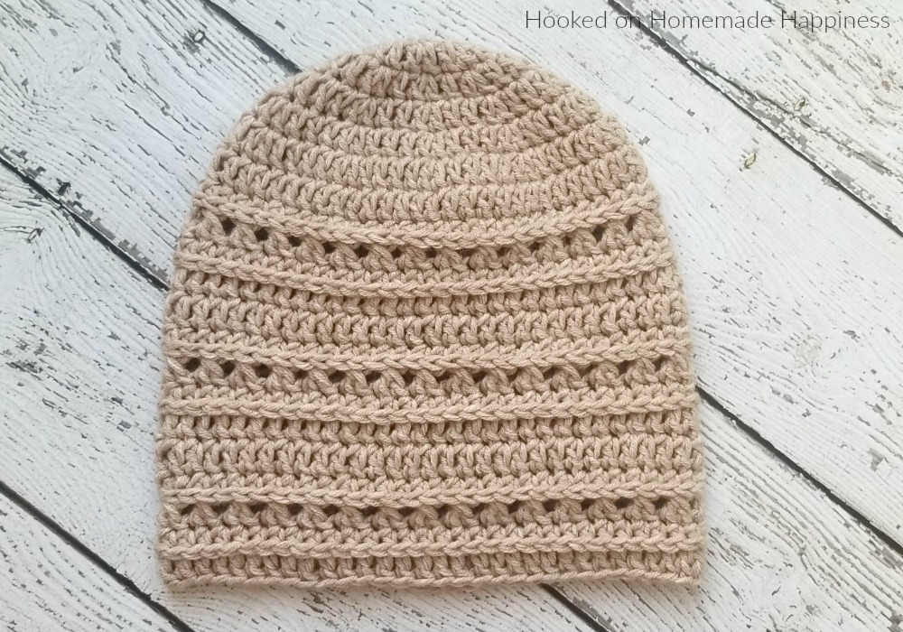Ridge Beanie Crochet Pattern - The Ridge Beanie Crochet Pattern has a unique design and fun texture. I use the technique of crocheting in the 3rd loops of a half double crochet because it adds a nice depth to a hat. I love the ribbed texture it creates.