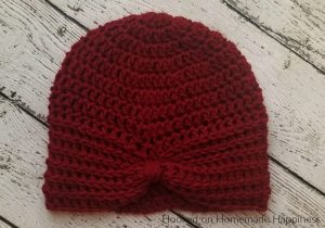 Turban Style Beanie Crochet Pattern - This Turban Style Beanie Crochet Pattern is an easy design to create! If you can double crochet, then you can make this cute and textured beanie.