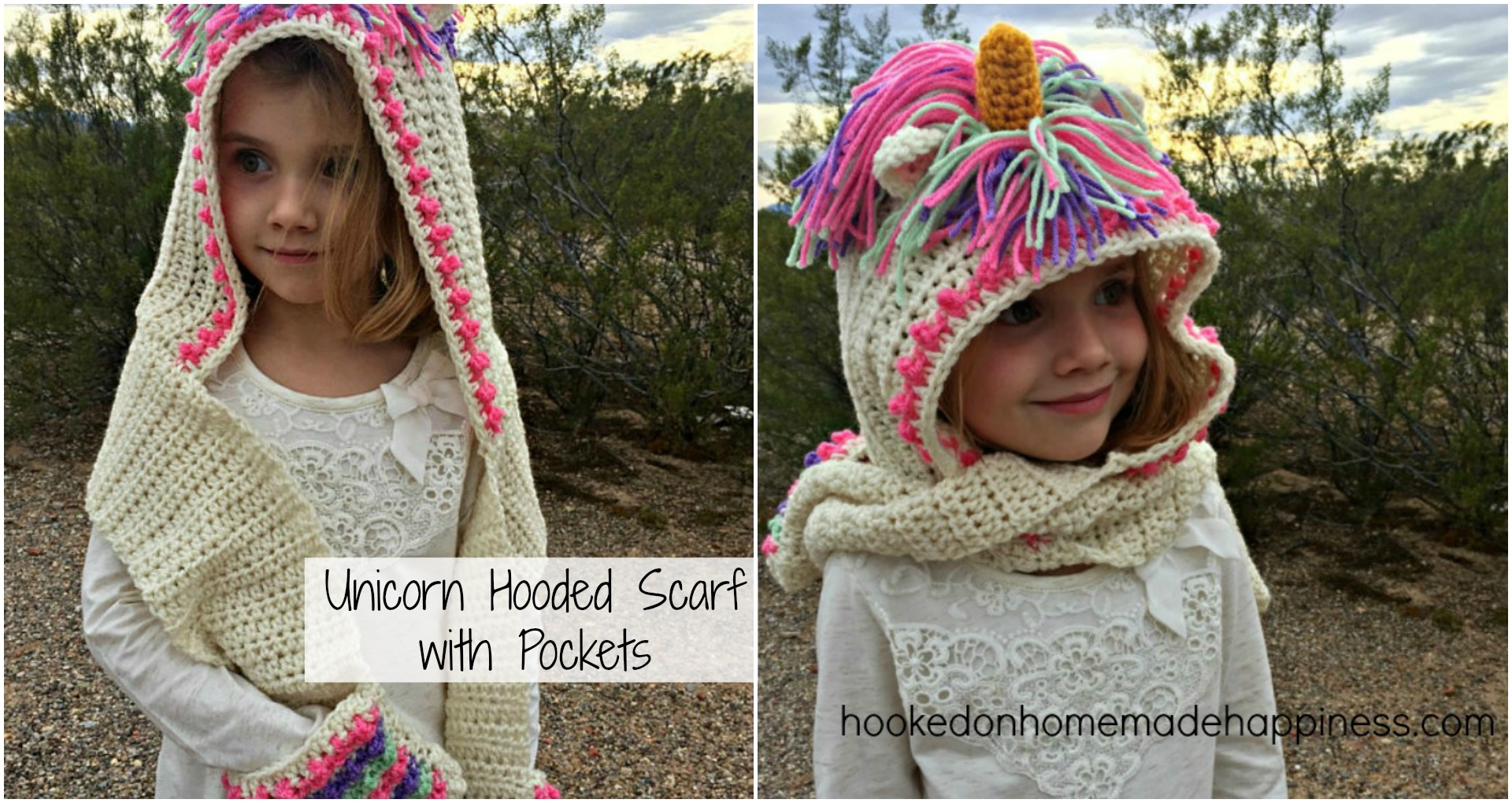Unicorn Hooded Scarf Hooked On Homemade Happiness