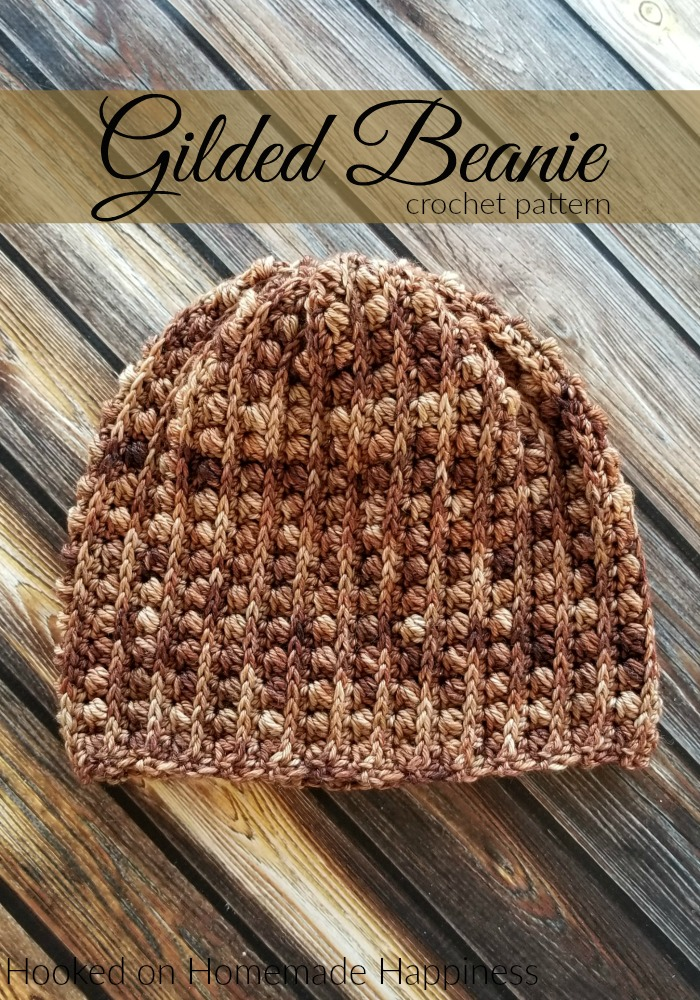 Gilded Beanie Crochet Pattern - The Gilded Beanie Crochet Pattern has a beautiful and textured design.